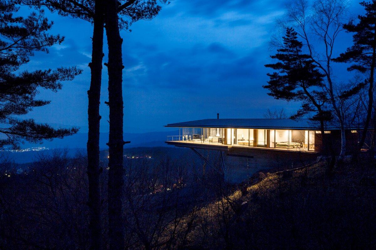 Evening Views, Mountain House in Nagano, Japan