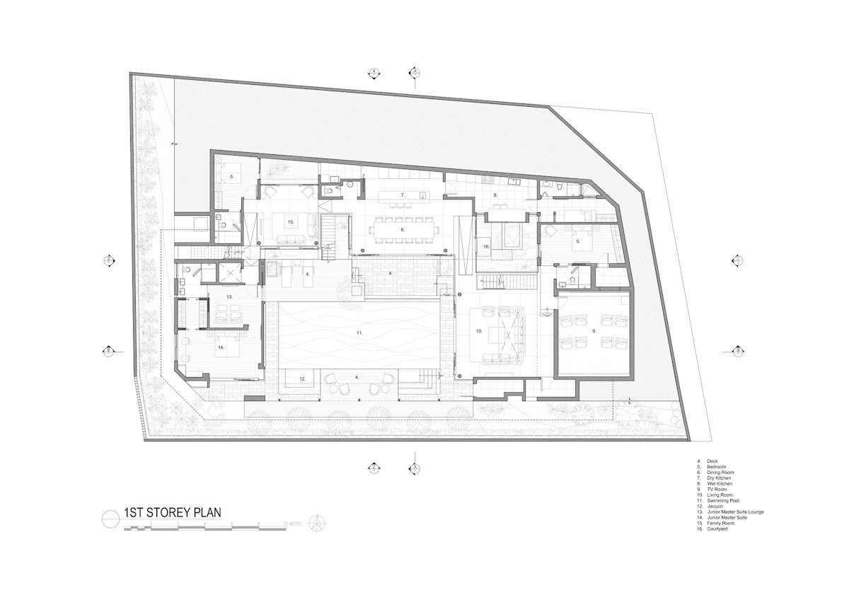 First Floor Plan, Home in Singapore