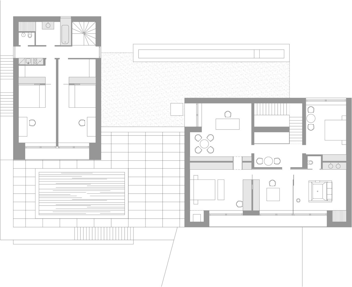 First Floor Plan, Home in Decín, Czech Republic