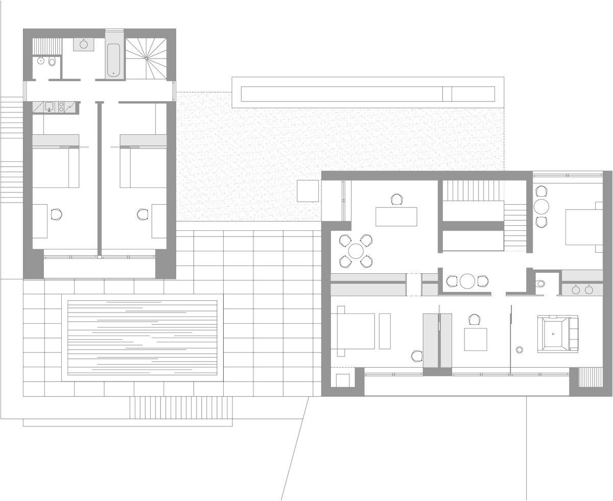 First Floor Plan, Home in Decín, Czech Republic