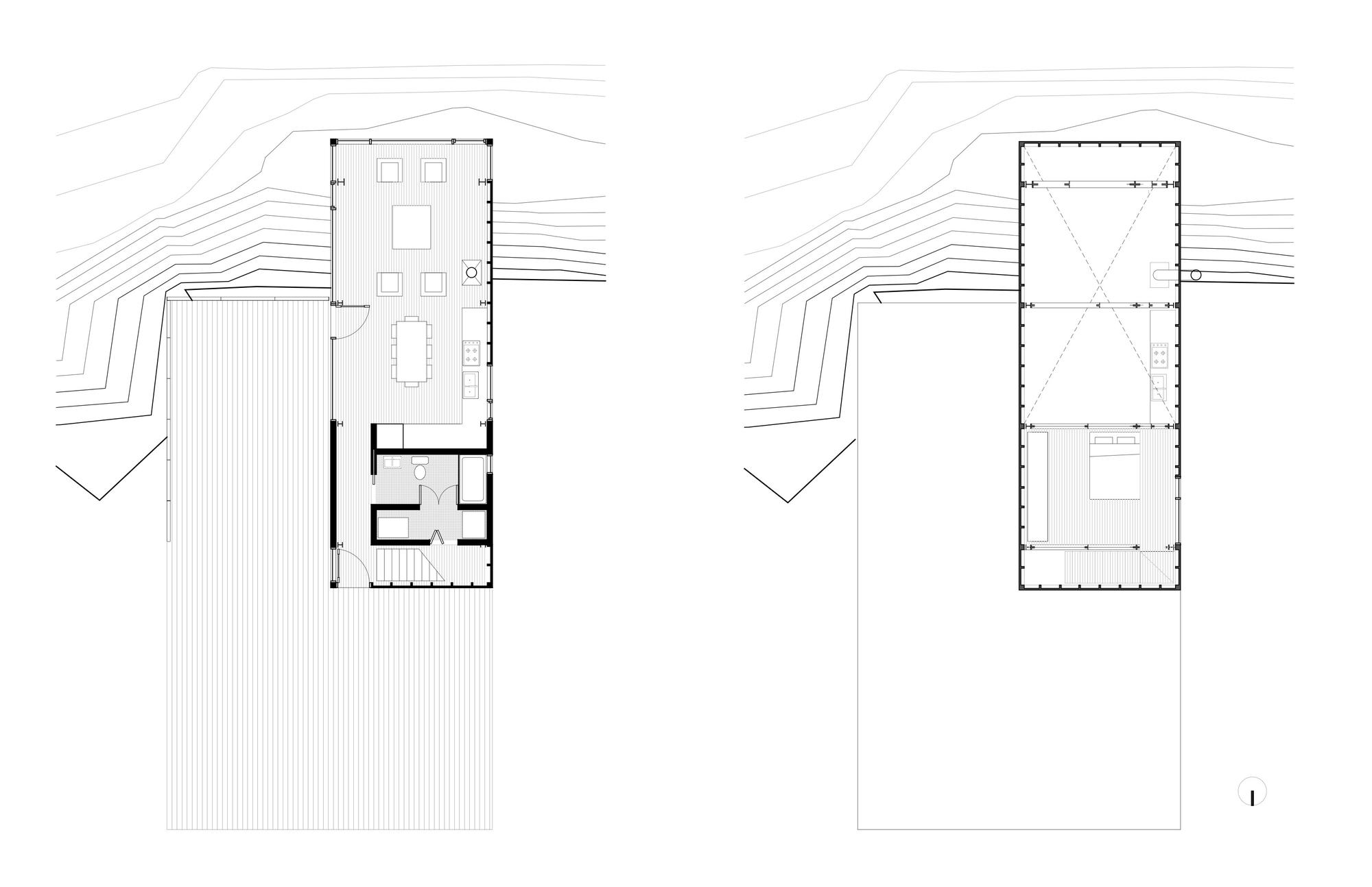 Floor Plan, Cliff Cabin in Nova Scotia, Canada