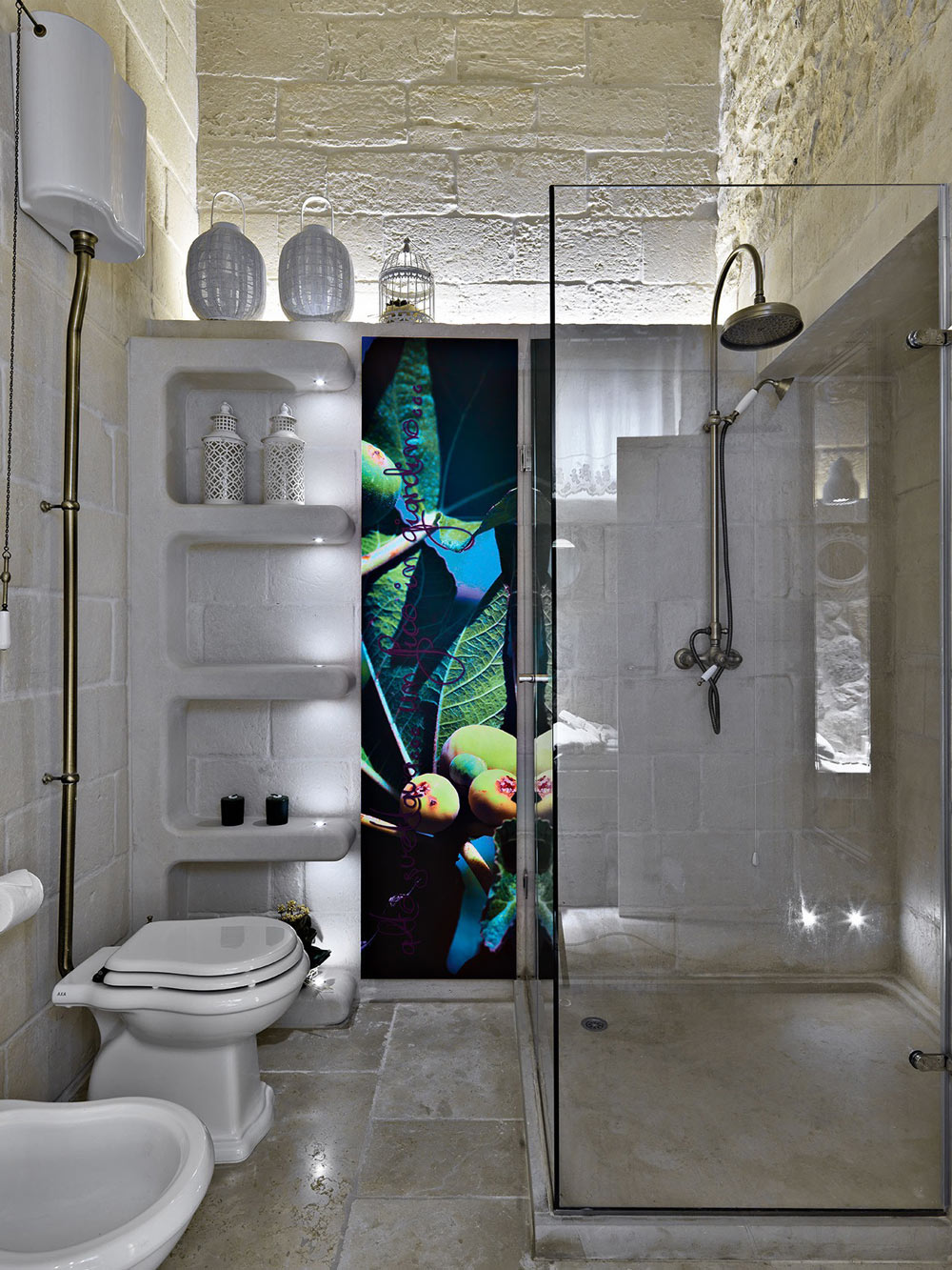 Glass Shower, Art, Relais Masseria Capasa Hotel in Martano, Italy