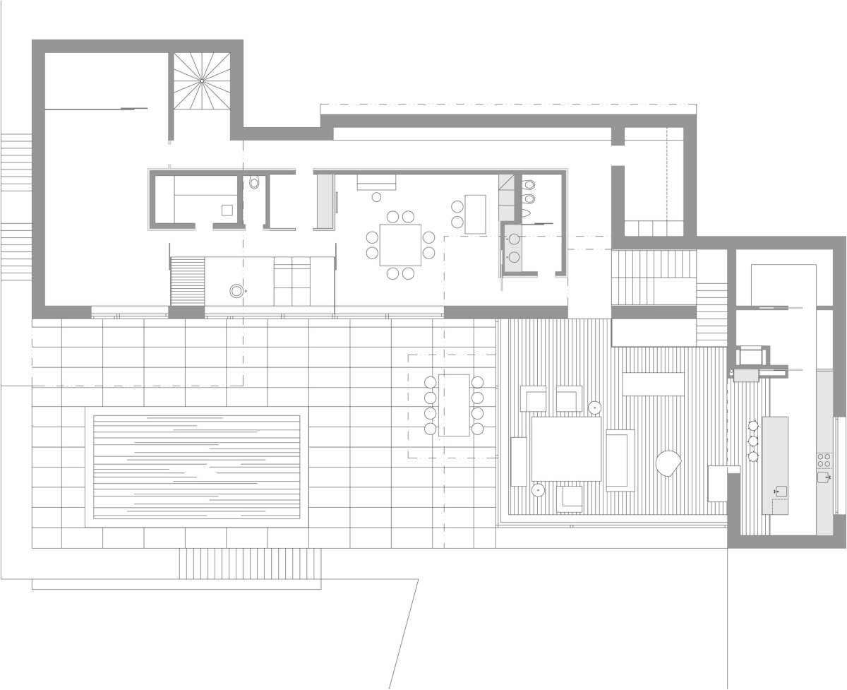 Ground Floor Plan, Home in Decín, Czech Republic