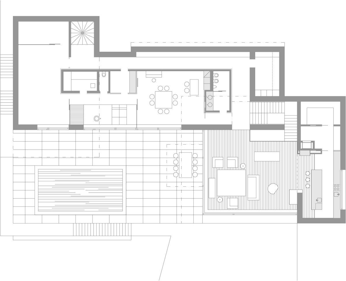 Ground Floor Plan, Home in Decín, Czech Republic