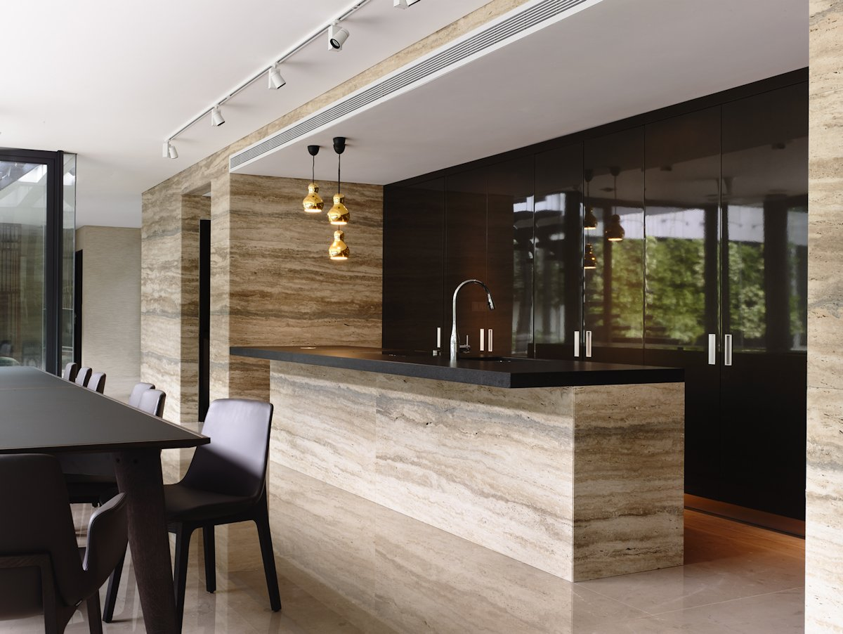 Kitchen Island, Marble Tiles, Home in Singapore