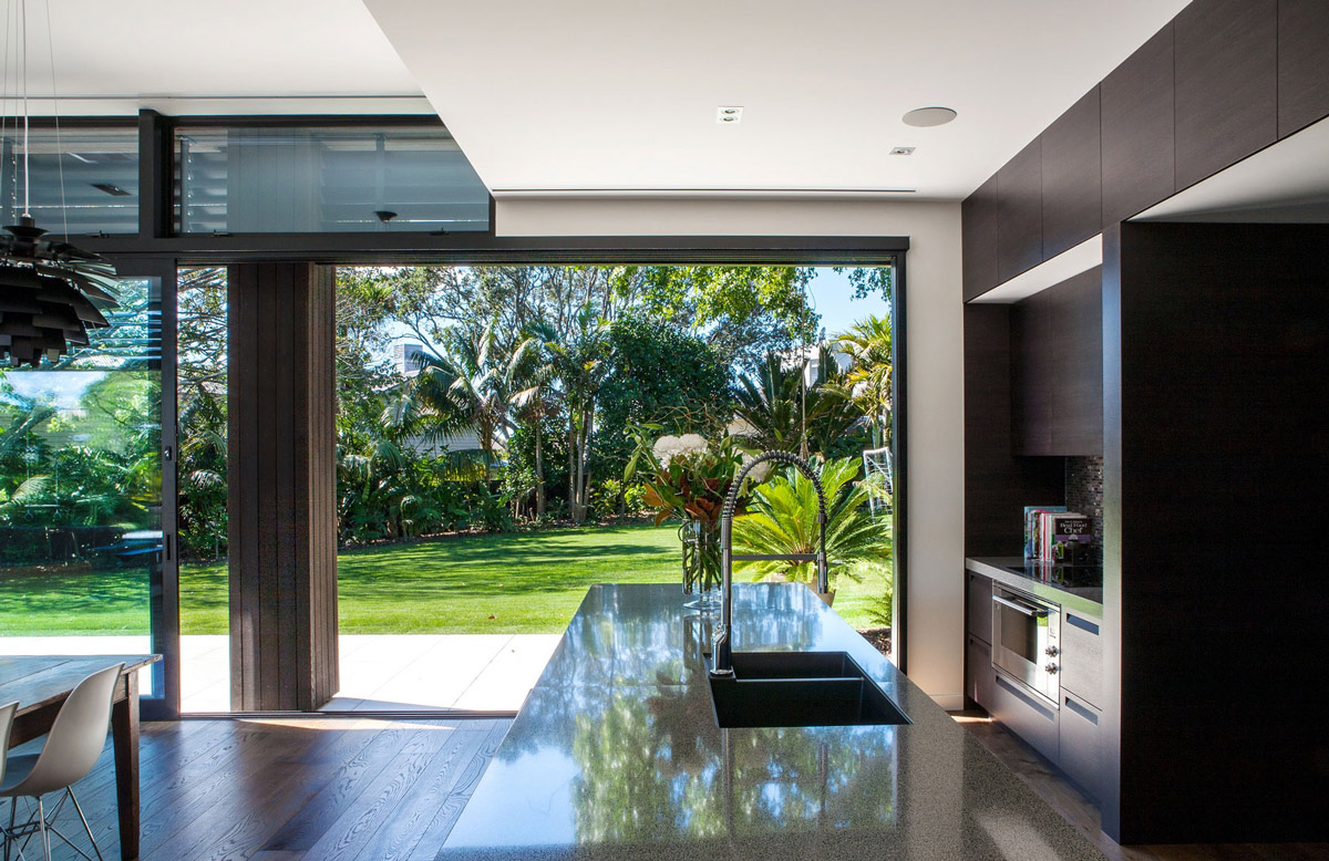 Kitchen Island, Modern House in Auckland, New Zealand