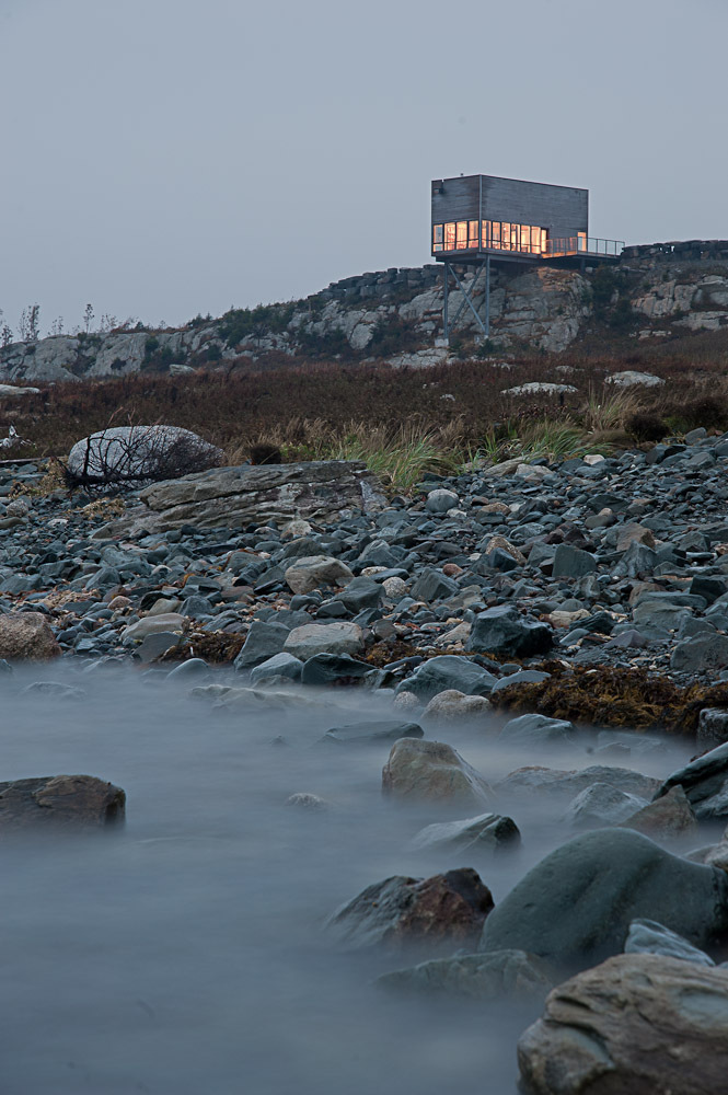 Lighting, Beach View, Cliff Cabin in Nova Scotia, Canada