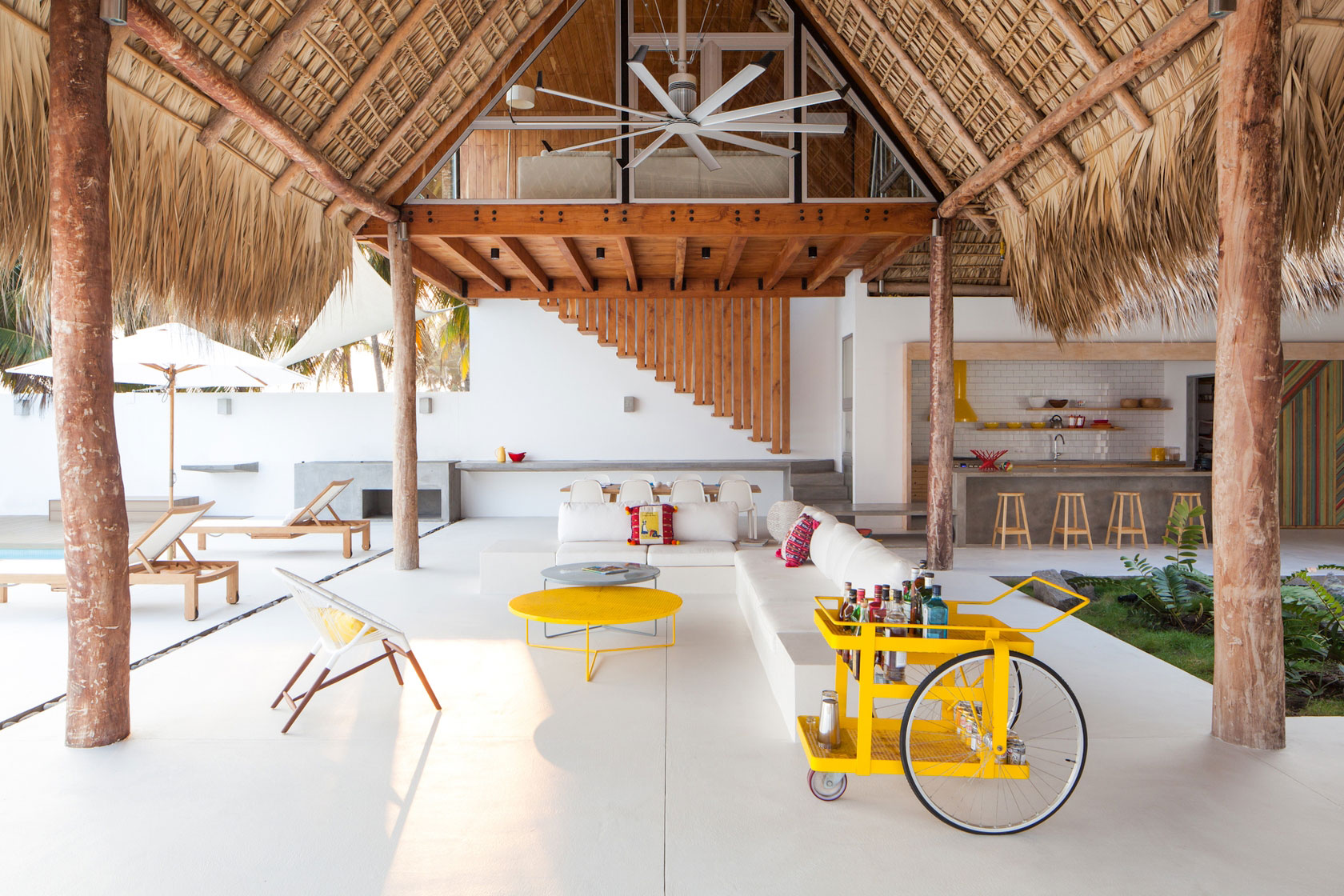 Living Space, Kitchen, Beach House in San Salvador, El Salvador