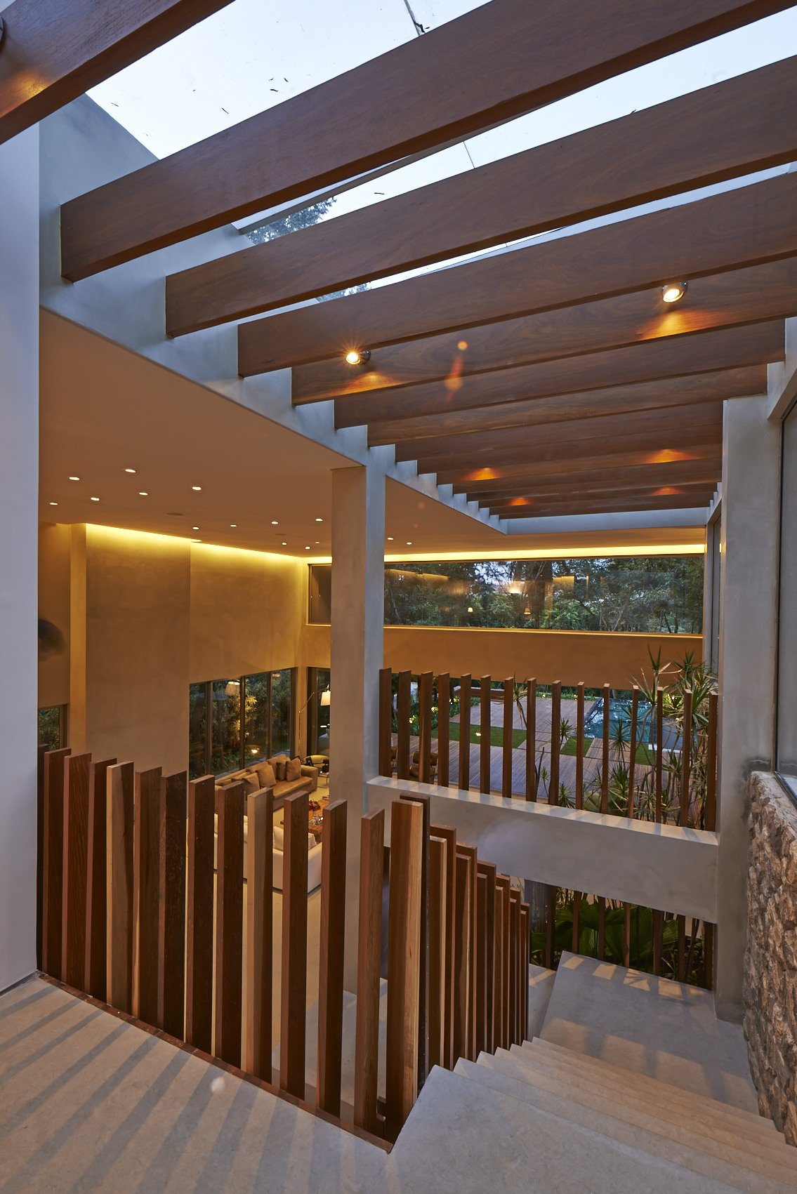 Modern Stairs, Contemporary Home in Nova Lima, Brazil