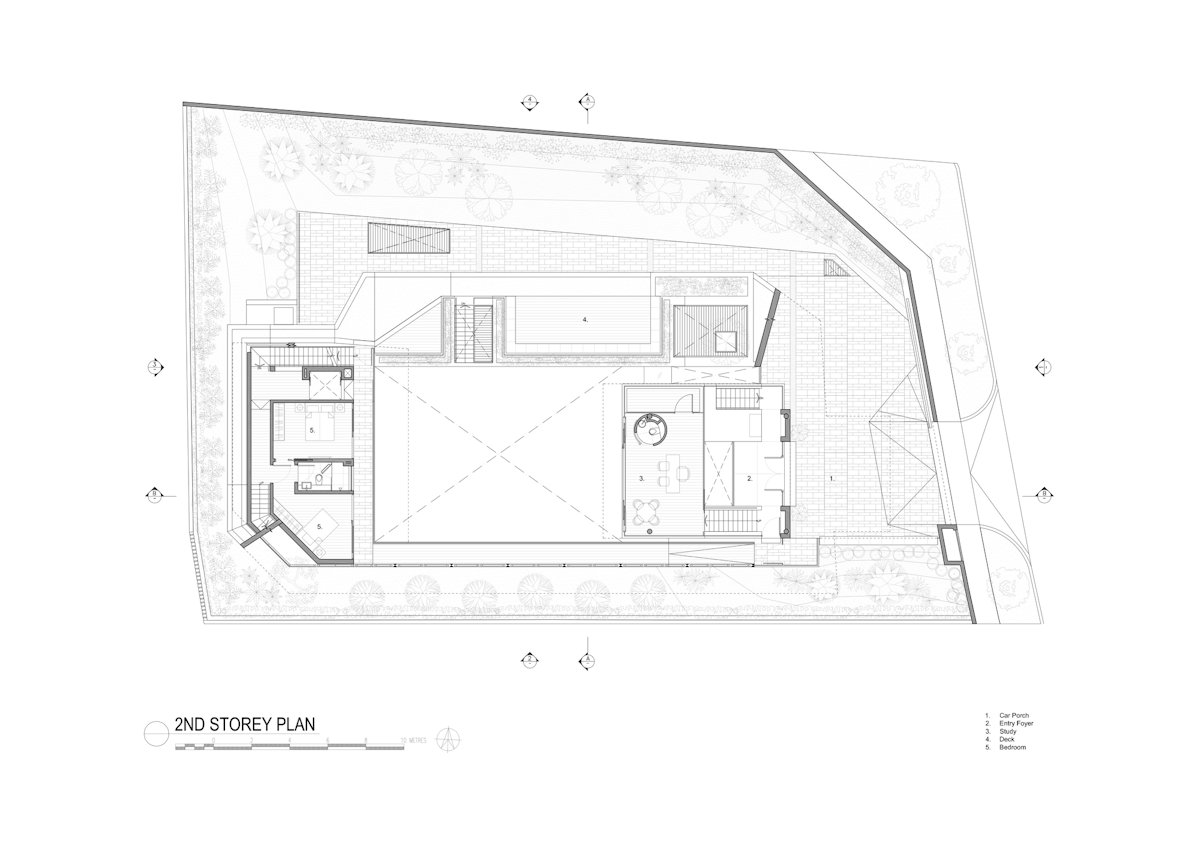 Second Floor Plan, Home in Singapore