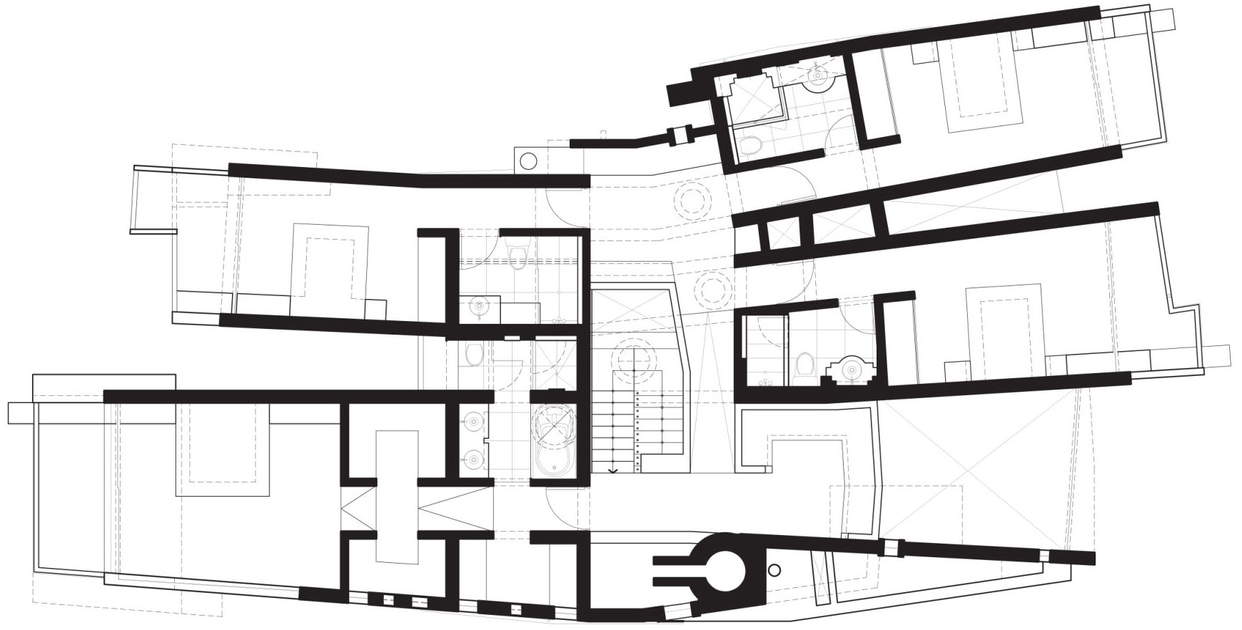 Second Floor Plan, Home in La Planicie, Lima