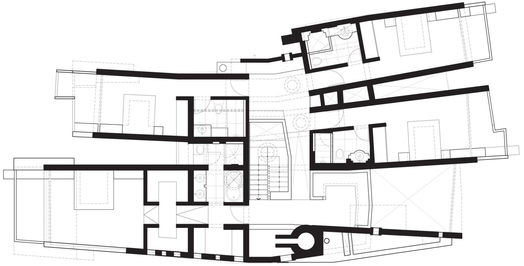 Second Floor Plan, Home in La Planicie, Lima