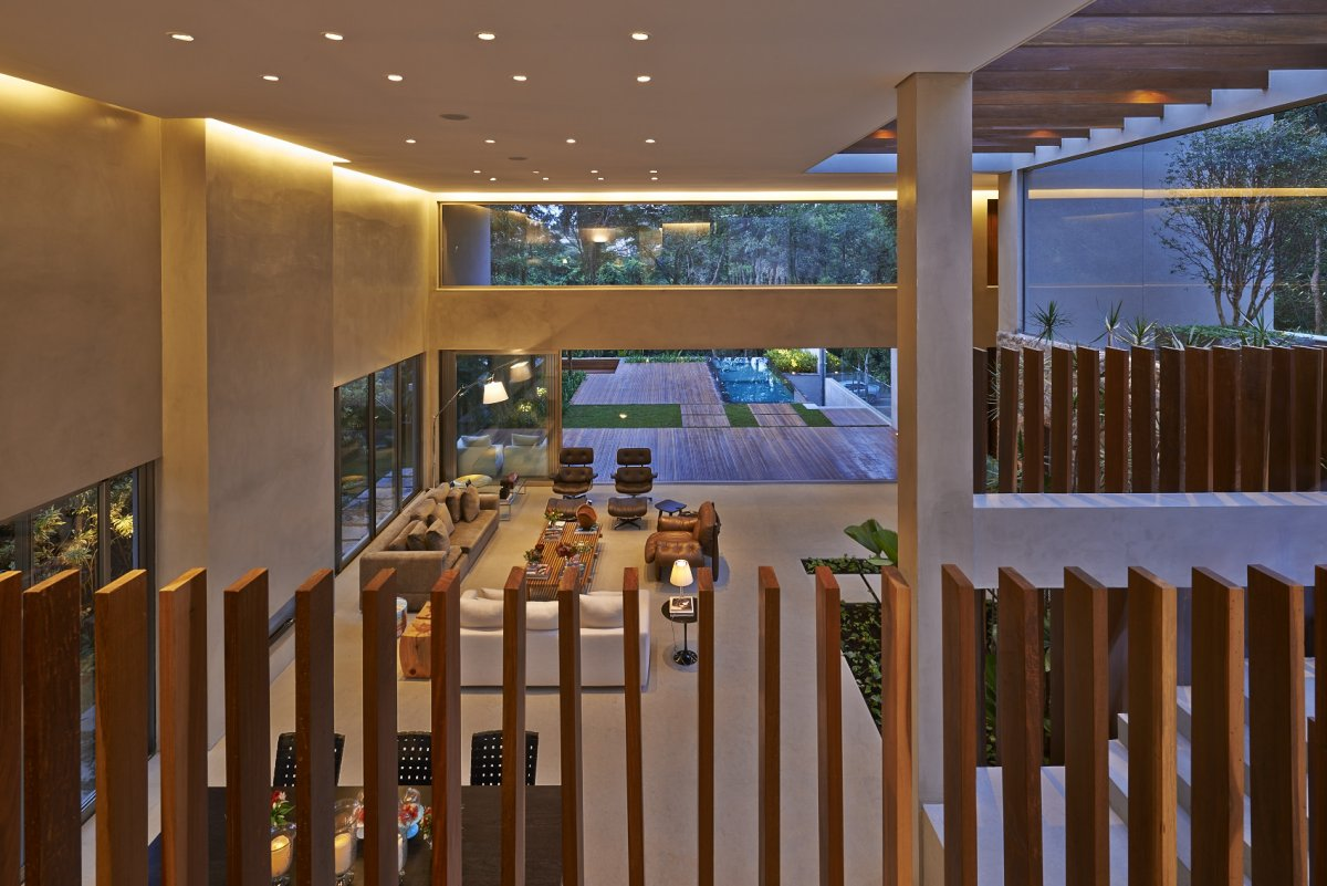 Second Floor, Contemporary Home in Nova Lima, Brazil