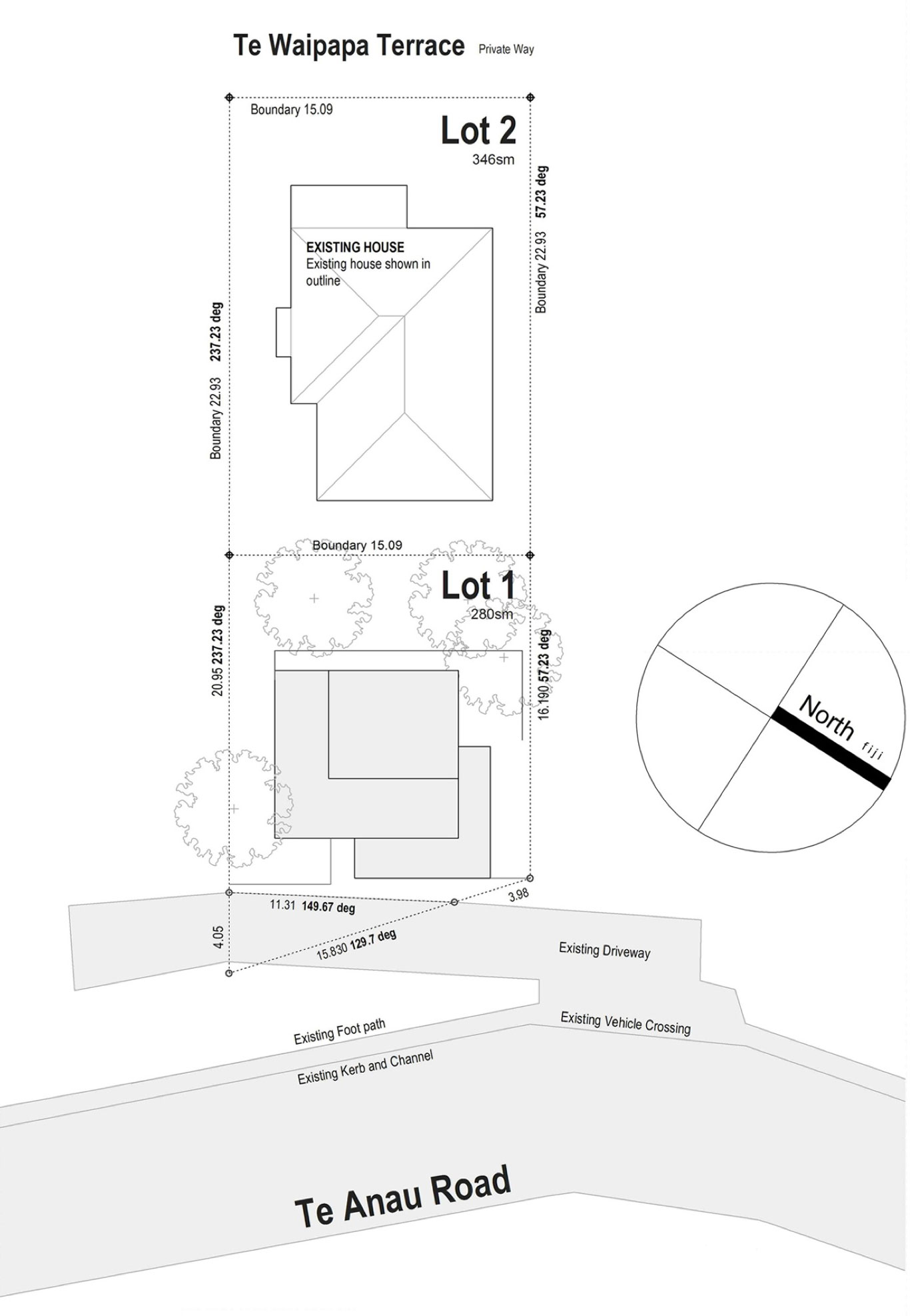 Site Plan, Hillside Home in Wellington, New Zealand