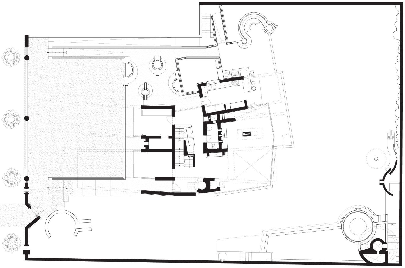 Site Plan, Home in La Planicie, Lima
