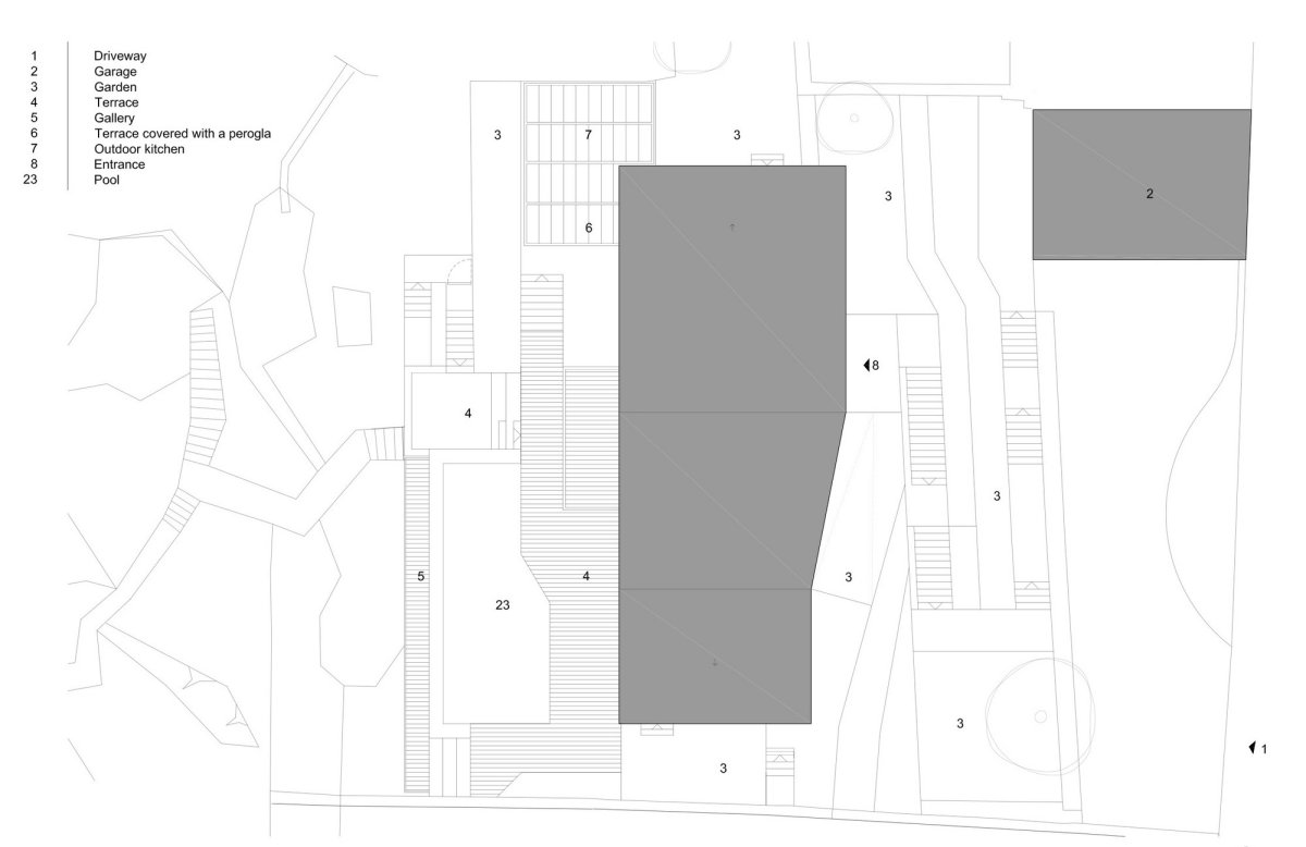 Site Plan, House in Dubrovnik, Croatia