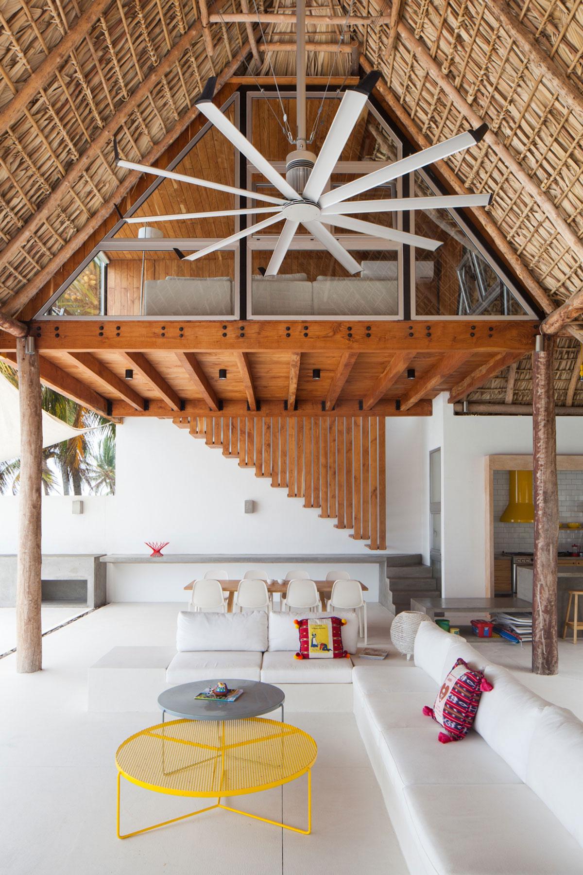Sofas, Open Plan Living Space, Beach House in San Salvador, El Salvador