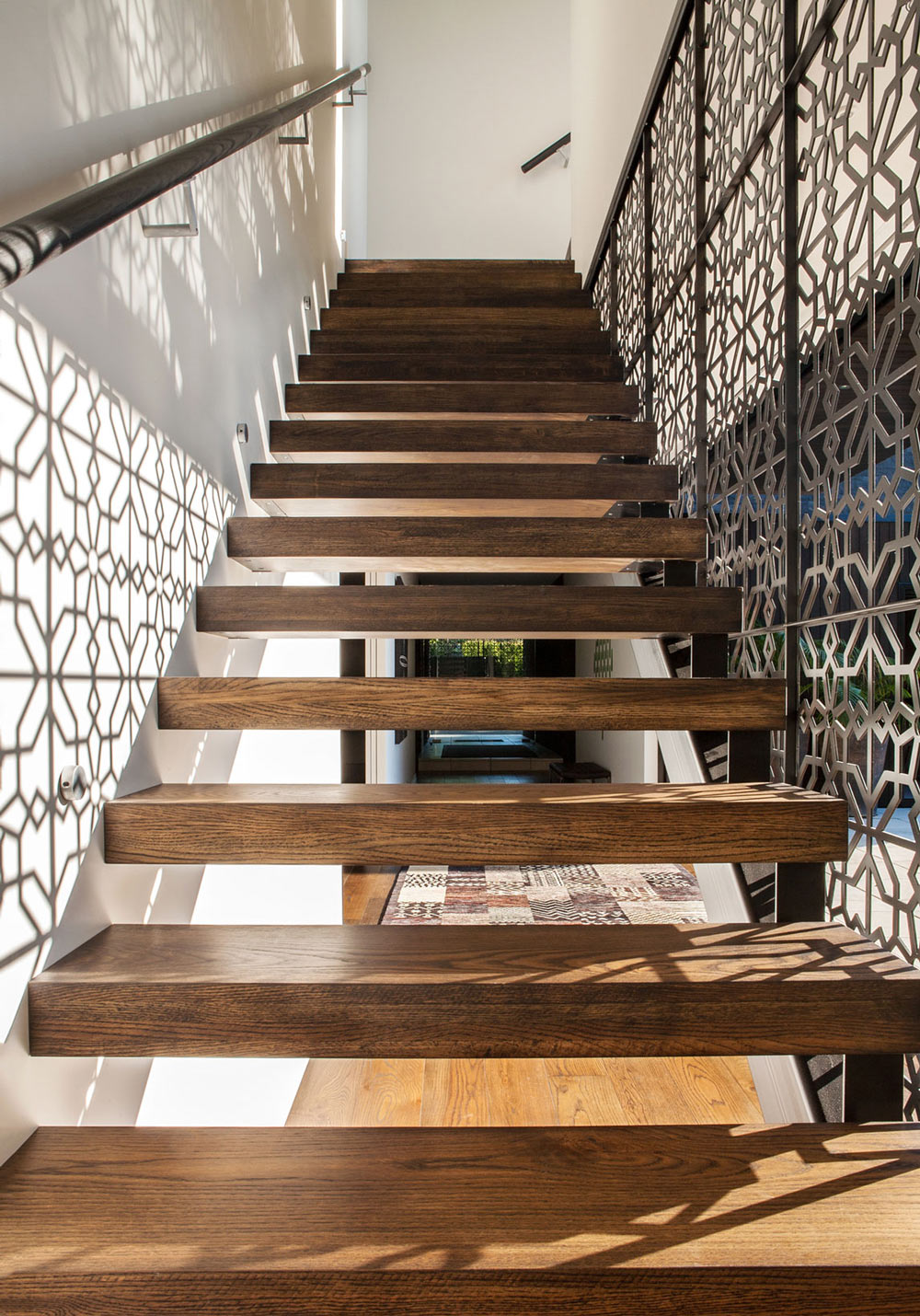 Stairs Detail, Modern House in Auckland, New Zealand