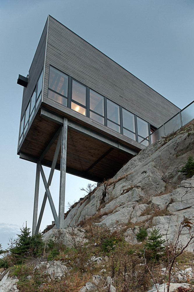 Steel Superstructure, Cliff Cabin in Nova Scotia, Canada