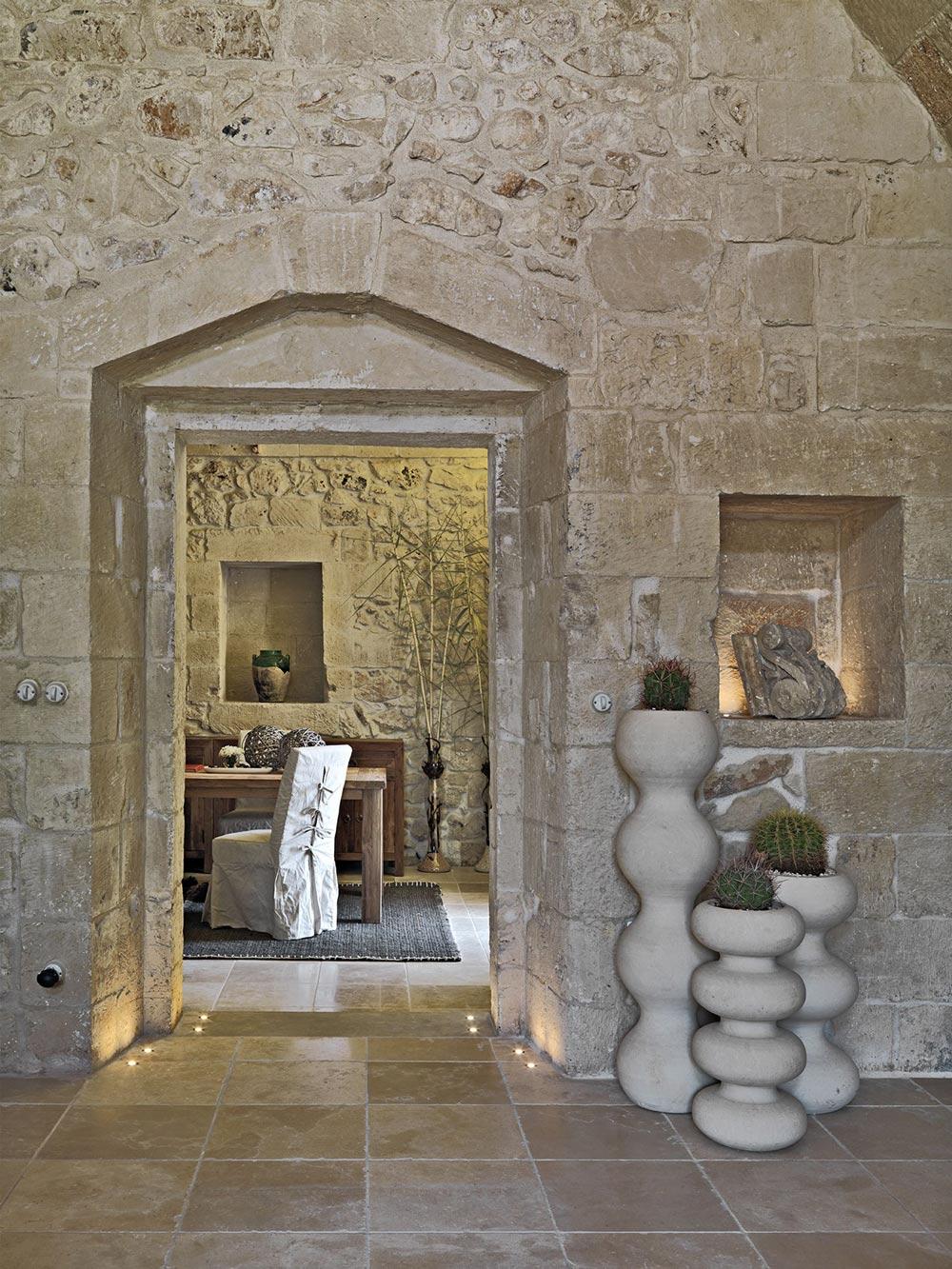 Stone Floor Tiles, Relais Masseria Capasa Hotel in Martano, Italy