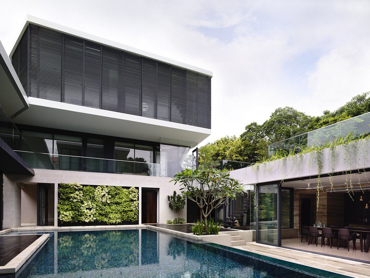 Swimming Pool, Large Sliding Doors, Home in Singapore