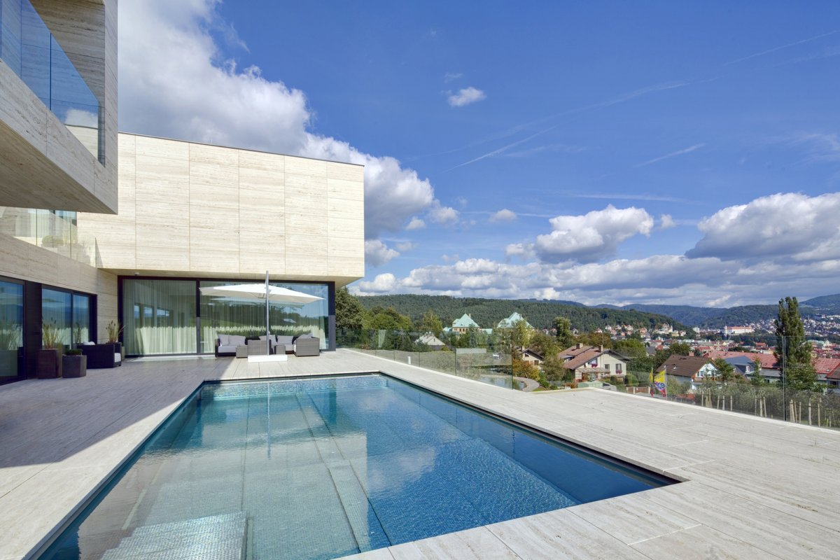 Swimming Pool, Terrace, Views, Home in Decín, Czech Republic