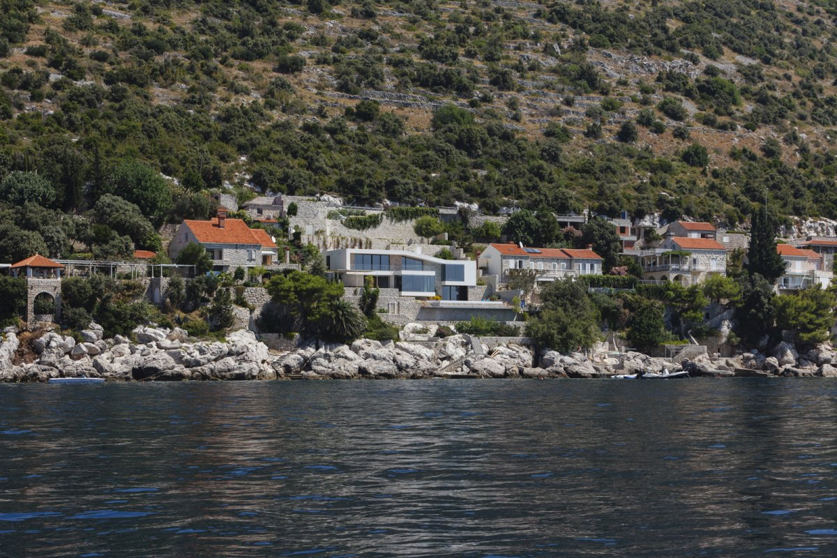 View from the Sea, House in Dubrovnik, Croatia