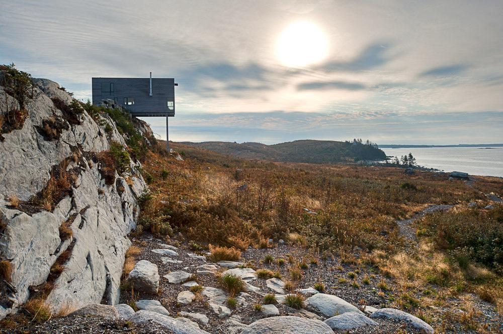 Rustic Cabin Perched Over a Cliff in Nova Scotia, Canada