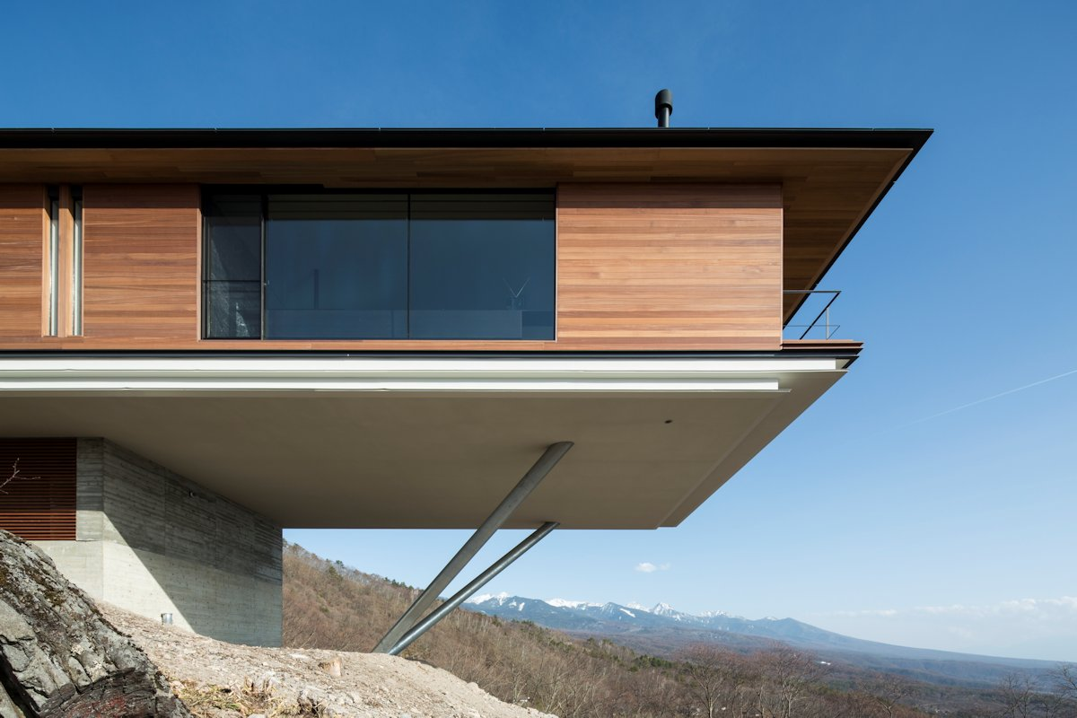 Wood Cladding, Mountain House in Nagano, Japan