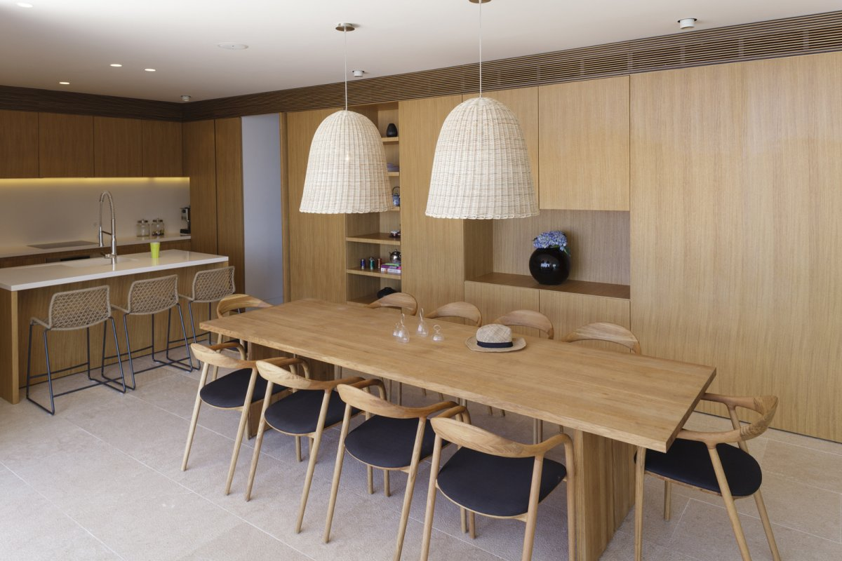 Wood Dining Table, Lighting, Kitchen Island, House in Dubrovnik, Croatia