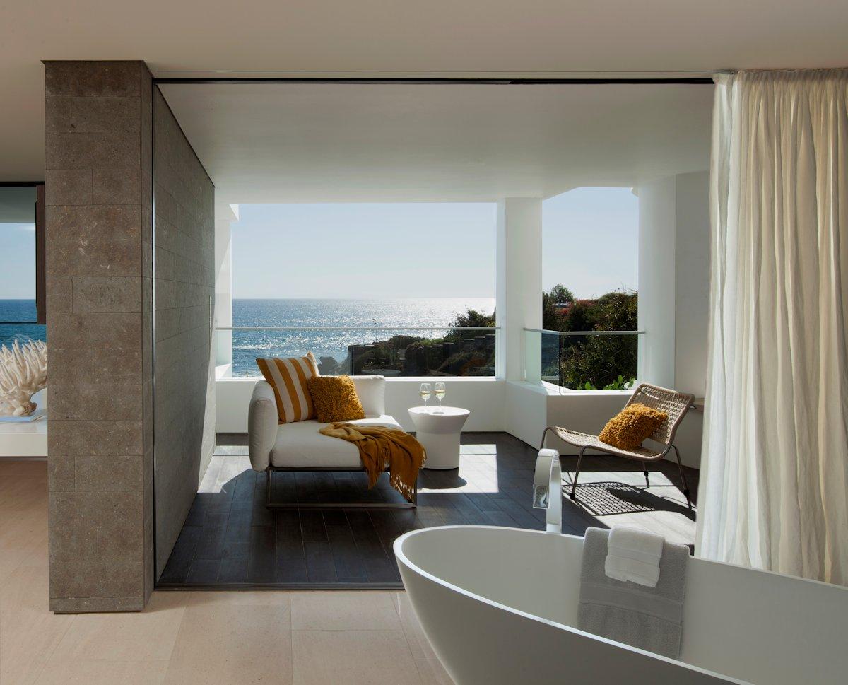 Bathroom, Balcony, Beach House in Laguna Beach, California
