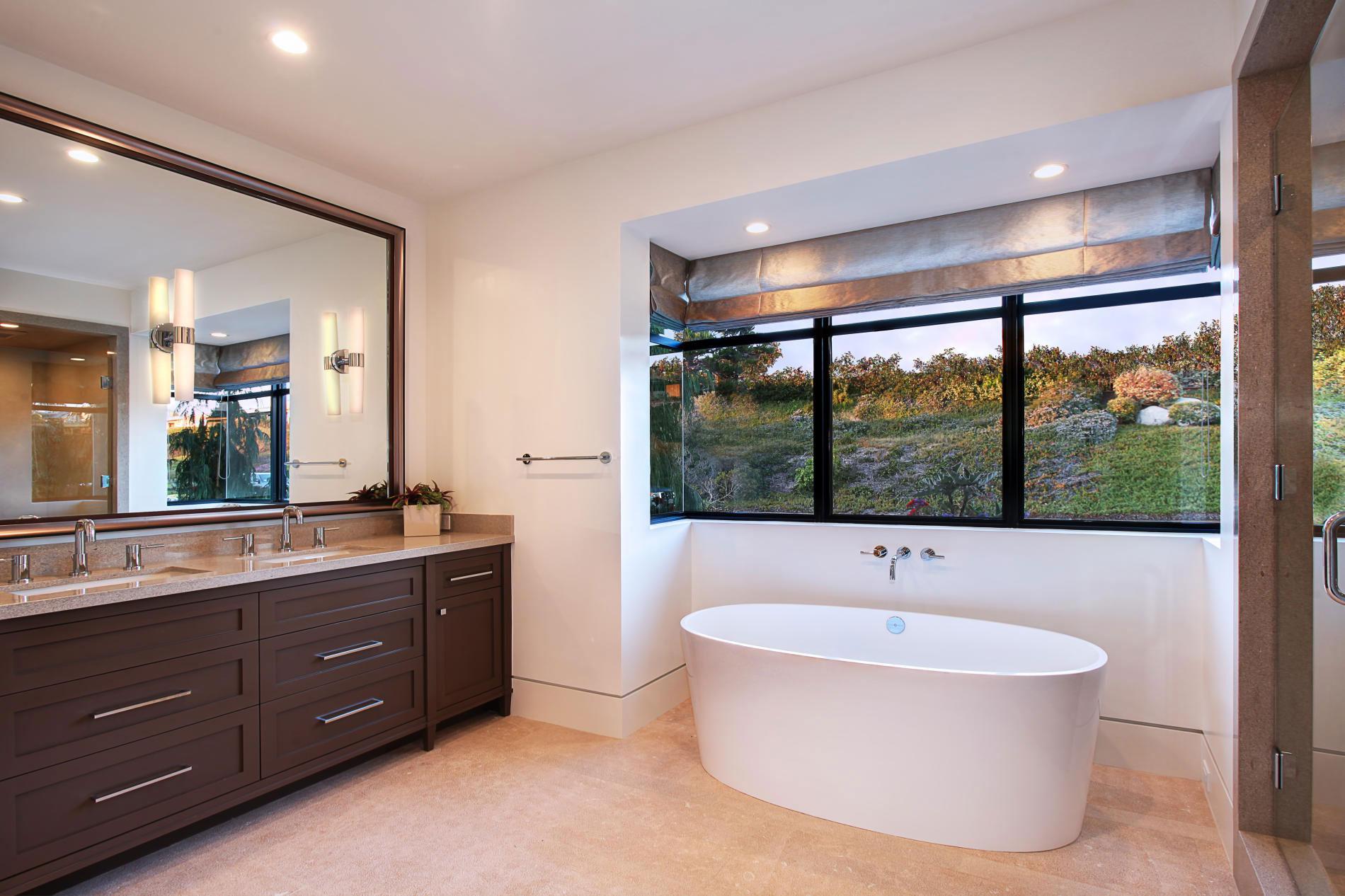 Bathroom Mirror, Sinks, Bath, Home in Corona del Mar, California