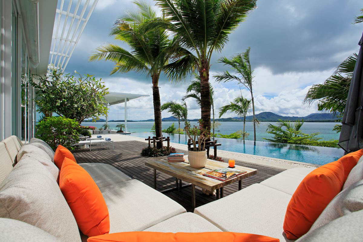 Beautiful Water Views, Pool, Terrace, Oceanfront Villa in Phuket, Thailand