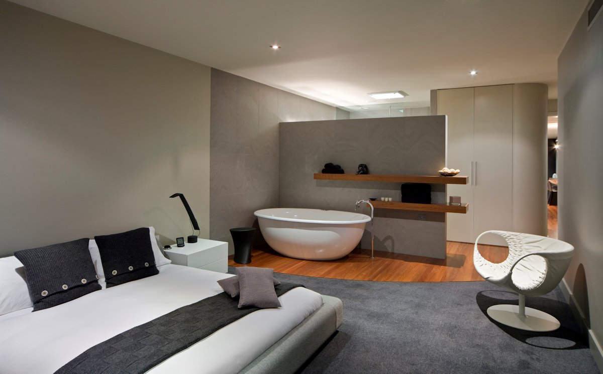 Bedroom, Bathroom, Contemporary Home in Brighton, Australia