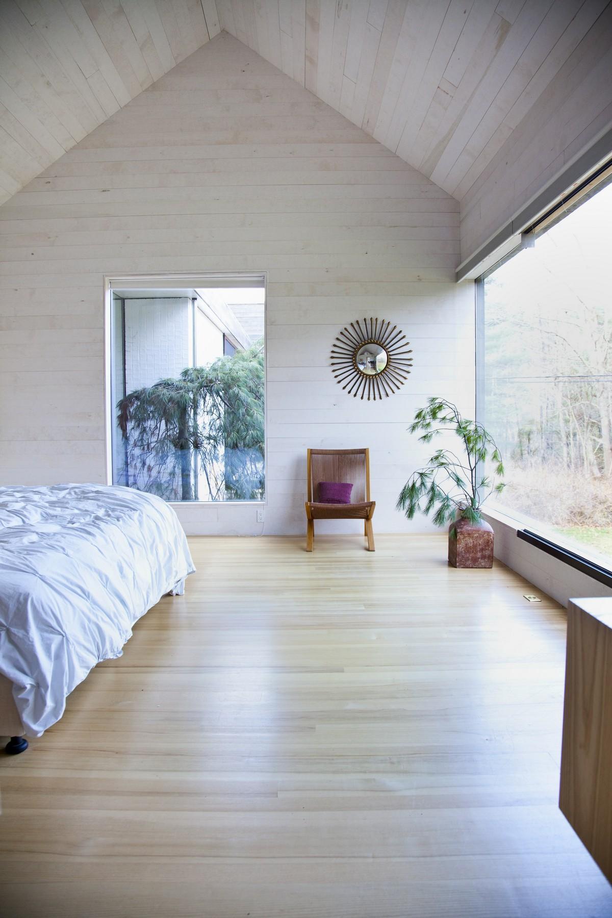 Bedroom, Large Windows, Rural Retreat in Bantam, Connecticut