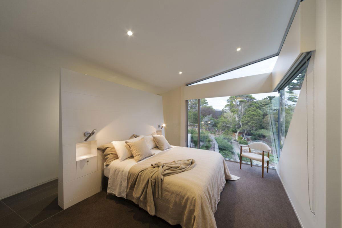 Bedroom, Sailing Inspired House in Victoria, Australia