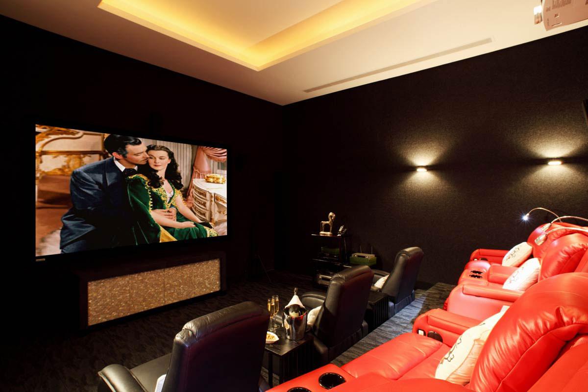 Home Theatre, Oceanfront Villa in Phuket, Thailand