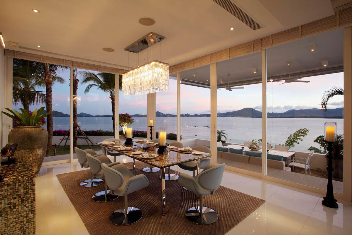 Dining Table, Oceanfront Villa in Phuket, Thailand