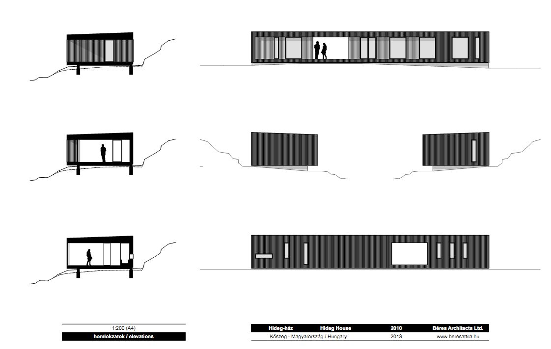 Elevations, Holiday Cabin in Koszeg, Hungary