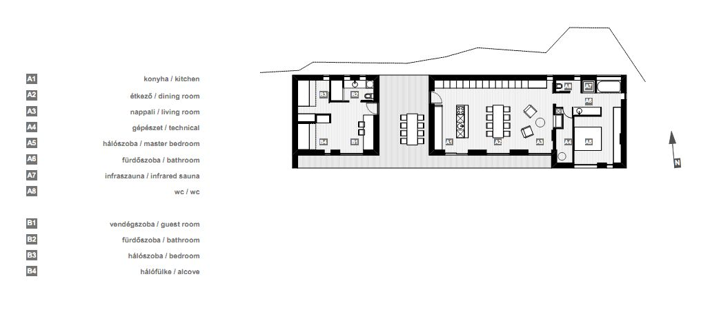 Floor Plan, Holiday Cabin in Koszeg, Hungary
