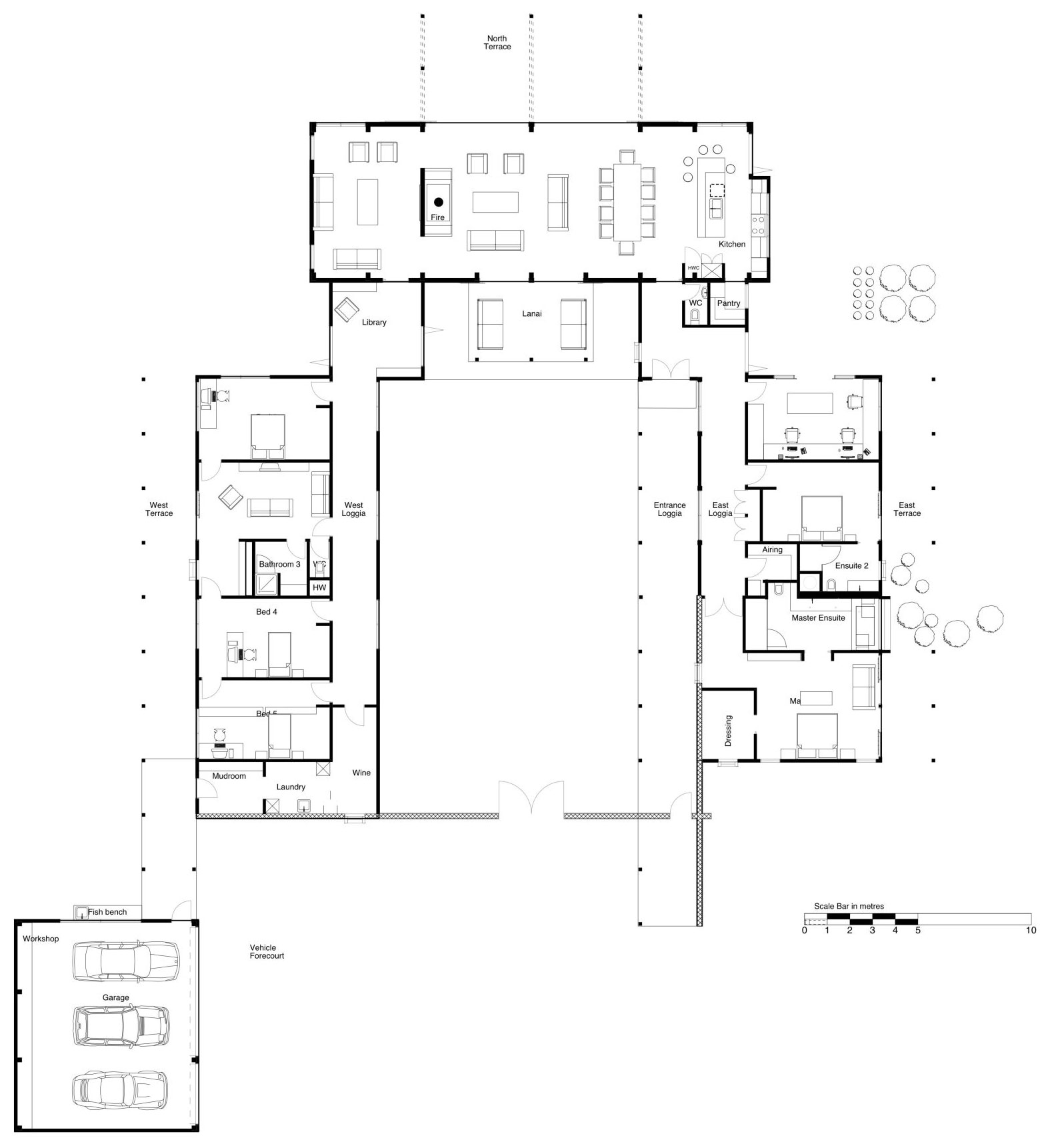 Floor Plan, Modern Home in Nelson, New Zealand