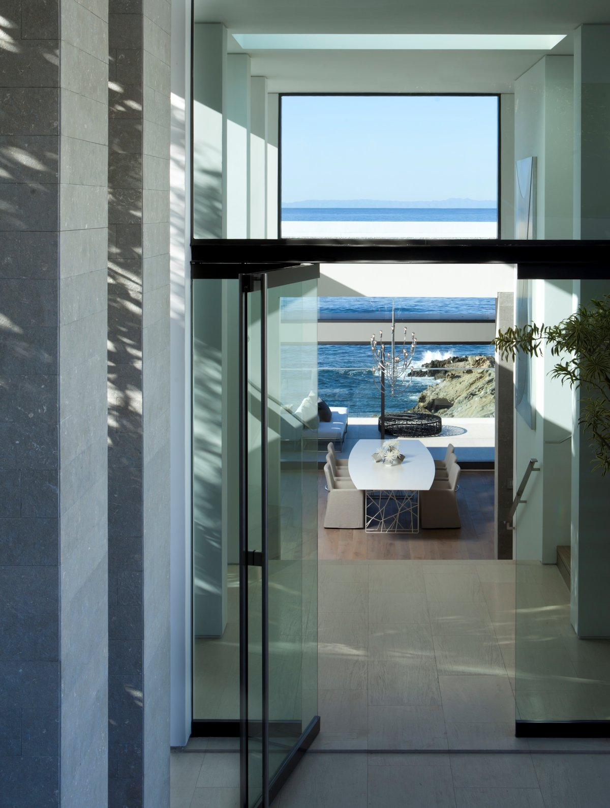 Glass Door, Dining Space, Ocean Views, Beach House in Laguna Beach, California