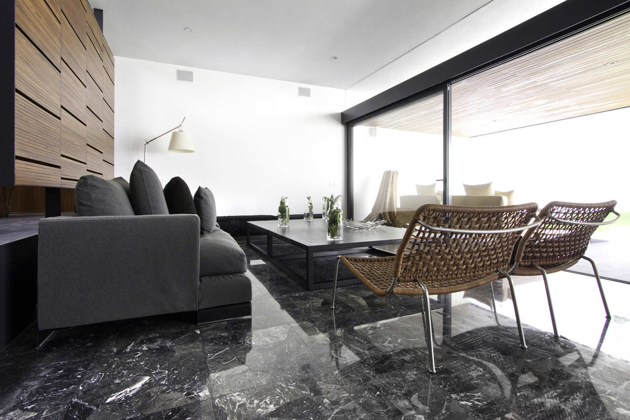 Glass Sliding Doors, Coffee Table, Home Renovation in Guadalajara, Mexico