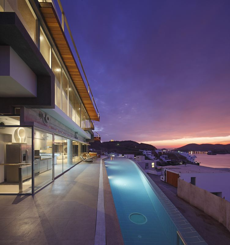 Glass Walls, Terrace, Outdoor Pool, Beach House in Lima, Peru