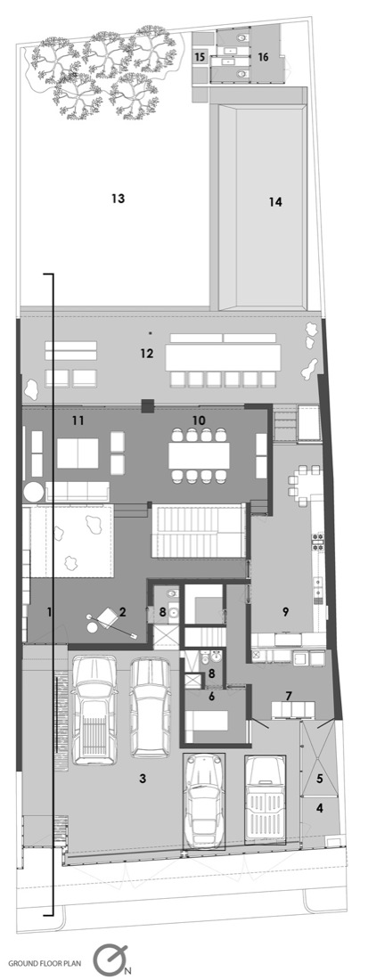 Ground Floor Plan, Home Renovation in Guadalajara, Mexico