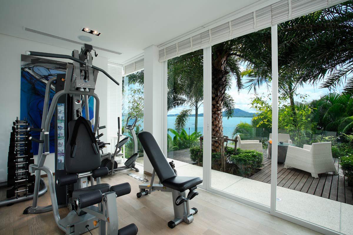 Gym, Oceanfront Villa in Phuket, Thailand
