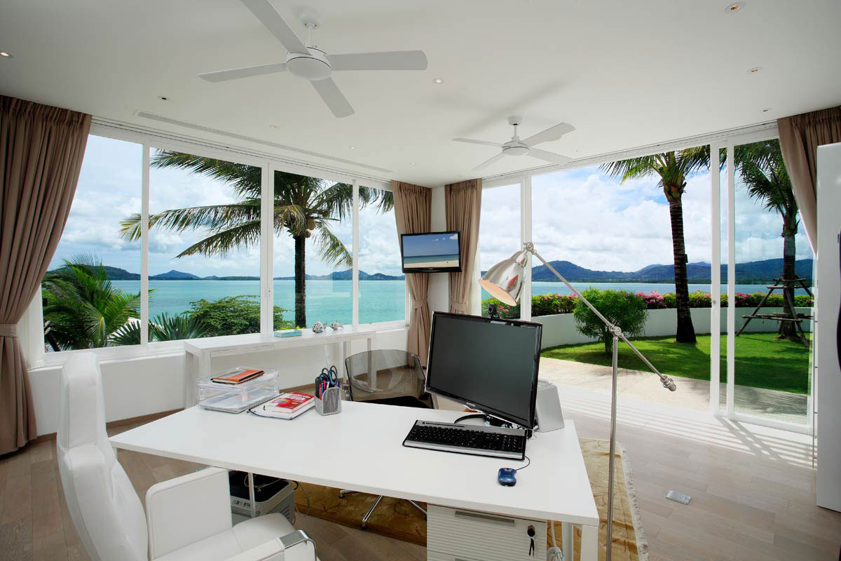 Home Office, Oceanfront Villa in Phuket, Thailand