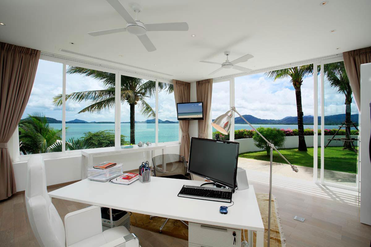 Home Office, Oceanfront Villa in Phuket, Thailand