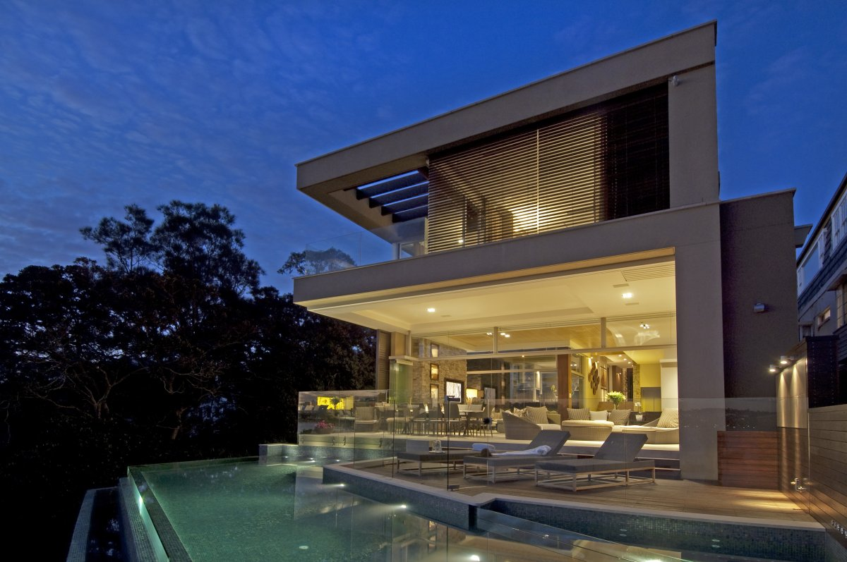 Infinity Pool, Glass Balustrading, Terrace, Waterfront Home in Vaucluse, Sydney