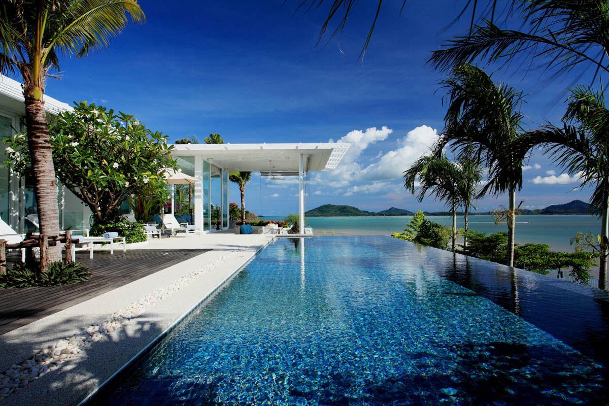 Oceanfront villa in phuket thailand - Maison moderne bord de mer ...